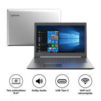 "Notebook Lenovo IdeaPad 330 i3-7020U 4GB 1TB Windows 10 15,6"" HD 81FD0003BR Prata"