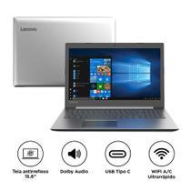 "Notebook Lenovo IdeaPad 330 i5-8250U 8GB 1TB Windows 10 15.6"" HD 81FE0002BR Prata -"