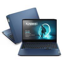 "Notebook Lenovo, Intel  Core  i7 10750H, 8GB, 512GB SSD, 15,6"", GTX1650, Ideapad Gaming 3i, Chameleon Blue - 82CG0005BR -"
