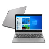 "Notebook Lenovo Ultrafino IdeaPad 3i i5-10210U 8GB 256 GB SSD Windows 10 15.6"" 82BS0005BR Prata -"