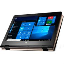 "Notebook Multilaser 2 em 1 M11W Tela 11,6"" Touch Screen 32GB de HD 2GB de RAM Dourado NB259"
