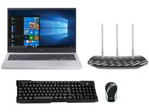 Notebook Samsung Book X45 Intel Core i5 8GB 256GB - SSD + Roteador Wireless Tp-link + Mouse + Teclado