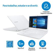 Notebook Samsung Dual Core 4GB 500GB Tela Full HD 15.6 Windows 10 Essentials E21 NP300E5M-KFBBR - Sansung