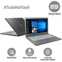 Notebook Samsung Flash F30 Intel Celeron 4GB 64GB SSD Full HD 13.3 W10 - Cinza -