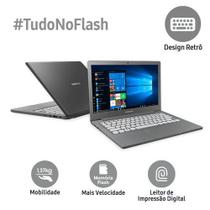 Notebook Samsung Flash F30, Intel Celeron N400, Windows 10 Home, 4GB, 64GB SSD - Grafite