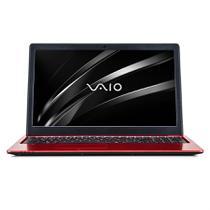 """Notebook Vaio Fit 15S  8ª Geração Core i5 8GB 1TB Tela 15.6"""" HD Windows 10 Home - Vermelho -"""