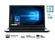 Notebook Vaio VJF154F11X-B0811B FIT 15S I3-6006U 4GB 128GB SSD 15.6 FHD W10 SL -
