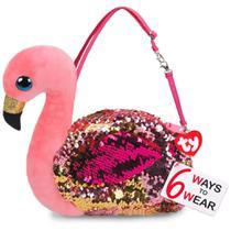 Nova Bolsa Fashion Ty Paete Flamingo Gilda Rosa Dtc 5032 -