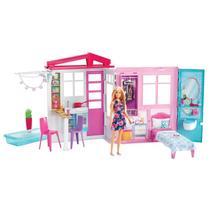 Nova Casa da Barbie com Boneca e Mobília - Mattel -