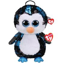 Nova Mochila Fashion Ty Paete Pinguim Waddles Azul Dtc 5017 -