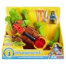 Novo Imaginext Crocodilo e Capitao Gancho Fisher Price Dhh63 -