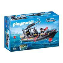 Novo Playmobil Action Unidade Tatica Com Bote Sunny 9362 -
