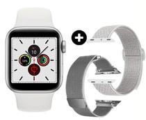Novo relógio ivo 13 série 6 prata smartwatch (w56), com 52 faces 44mm lanç 2021 ios e android 3 pulseiras prata - Globalwatch Iwo