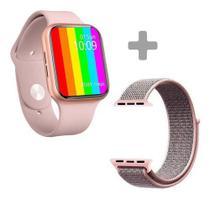 Novo relógio ivo 13 série 6 Rose smartwatch com 52 faces 44mm lanç 2021  2 pulseiras- Globalwatch - Iwo