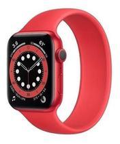 Novo relógio ivo13 série 6 Vermelho smartwatch com 52 faces 40mm lanç 2021 2 pulseiras - w56