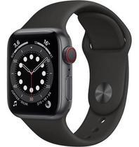 Novo relógio iwo13 série 6 Preto smartwatch com 52 faces 44mm lanç 2021  2 pulseiras -