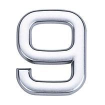 Número 9 de ABS auto-adesivo 3,9cm cromado Bemfixa -