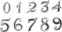Número De Casa Em Alumínio Fundido (kit Bucha E Parafuso) - Metal Cartas