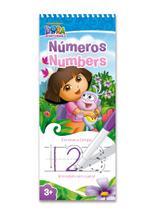 Números: escreve e limpa - dora aventureira - Vale Das Letras
