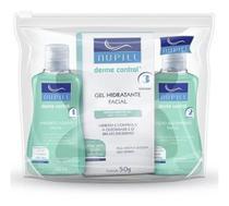 Nupill kit derme control - sabonete + gel hidratante + loção adistringênte -