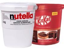 Nutella 3kg Balde Gigante + Creme Kit Kat - Ferrero