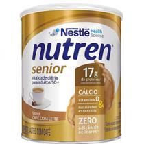 NUTREN SENIOR SABOR EM PÓ CAFE COM LEITE 370G - NUTREN Senior contém Cálcio, Proteína e Vitamina D, além de vitaminas e sais minerais. - Nestlé