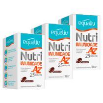 Nutri Imunidade A-Z - 3 un de 30 Cápsulas - Equaliv -