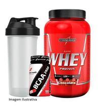 Nutri Whey Protein 907g Chocolate + BCAA 2400 - 100 caps + Coqueteleira 600ml - Integralmádica - Integral Médica