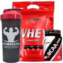 Nutri Whey Protein Refil 907g Chocolate + BCAA 2400 - 100 caps + Coqueteleira 600ml - Integralmédica - Integral Médica