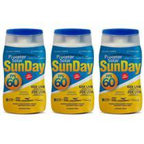 Nutriex Sun Day Fps60 Protetor Solar 120ml (Kit C/03) -