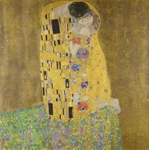 O Beijo - Gustav Klimt - Tela 60x60 Para Quadro - Santhatela