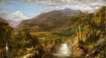 O Coração da Cordilheira - Frederic Edwin Church - 75x137 - Tela Canvas Para Quadro - Santhatela