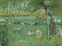 O Grande Jardim - Pierre Bonnard - Tela 50x65 Para Quadro - Santhatela