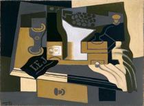 O moedor de café - Juan Gris - 50x67 - Tela Canvas Para Quadro - Santhatela