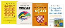 O Poder Do Hábito + Mindset + O Poder Da Ação + Os segredos da mente milionária - Várias Editoras