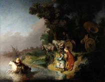 O Rapto de Europa - Rembrandt - Tela 30x38 Para Quadro - Santhatela