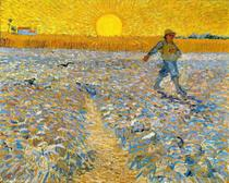 O Semeador e o Sol Brilhante - Vincent van Gogh - Tela 50x62 Para Quadro - Santhatela