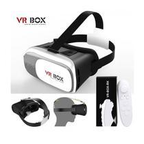 Oculos 3D com Controle Bluetooth para Filmes Jogos Game de Realidade Virtual (VR BOX) -