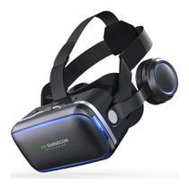 Óculos 3D Realidade Virtual Shinecon VR 6.0 Fone e Controle - Shincecon