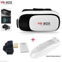 Óculos 3D VR Box Realidade Virtual com controle Bluetooth 2.0 - Ojuara -