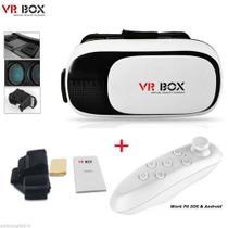 Óculos 3D VR Box Realidade Virtual com controle Bluetooth 2.0 - Ojuara