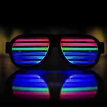 0180836dbb59e Óculos Aviador Preto LED Equalizador Ativado Por Som Cor SKU Preto - Hutz