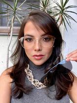 Óculos Clipon Sol Armação Feminina Grau Metal Dourada Amora 2 em 1-Sunrise Óculos -
