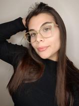 Óculos Clipon Sol Armação Feminino Grau Gatinho Ivy Nude - Palas Eyewear