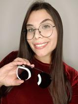 Óculos Clipon Sol Armação Feminino Grau Kika 2 em 1 Black - Palas Eyewear