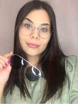 Óculos Clipon Sol Armação Feminino Grau Retrô Kika - Palas Eyewear