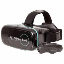 Óculos de realidade virtual 3d com controle Bluetooth - Utopia