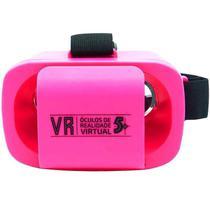 Oculos de realidade virtual infantil mini 5+ rosa - Eletrônica Castro