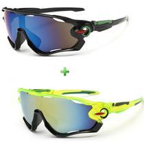 Óculos De Sol Ciclismo Esporte Esportivo Ciclista 2 Unidades -