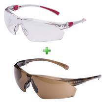 Óculos De Sol Ciclismo Feminino + Noturno Kit 2 Unidades - Univet